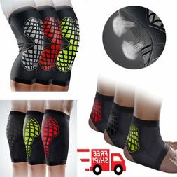elastic sports leg knee foot support brace