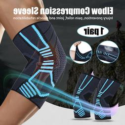 elbow sleeve forearm compression support brace elastic