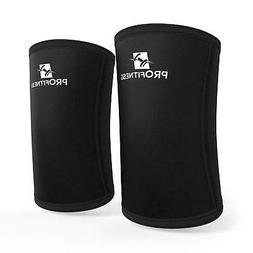 ProFitness Elbow Wraps for Weight Lifting Black Medium, Blac