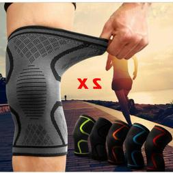 Fitness Running Cycling Knee Support Braces Elastic Nylon Sp