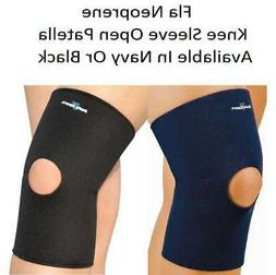 FLA-Neoprene Knee Sleeve Open Patella COLORS AND SIZES AVAIL