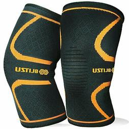 BLITZU Flex Plus Compression Knee Brace Men and Women for Jo