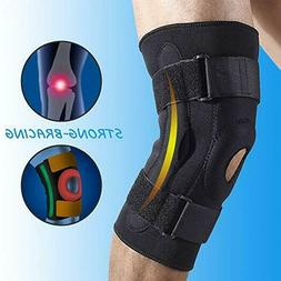 3 SIZES Double Metal Hinged Full Knee Brace Adjustable Metal