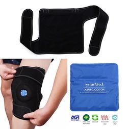 gel pack knee support wrap for cold