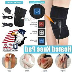 Heat Therapy Knee Support Brace Wrap Heated Vibration Massag