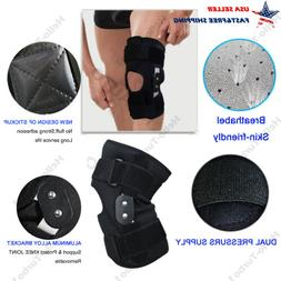 Hinged Knee Brace Patella Support Tendonitis Stabilizer Prot