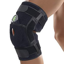 DISUPPO Hinged Knee Brace Support with Frosted Surface, Adju