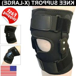 Hinged Patella Knee Brace Gym Weightlifting Support Compress