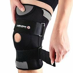 Hinged Patella Stabilizer Wrap Around Knee Brace Support Adj