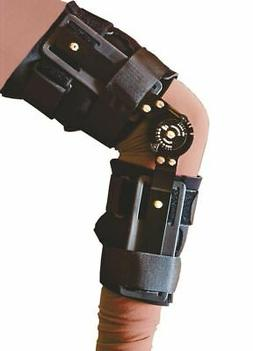 hinged rom adjustable knee brace support splint