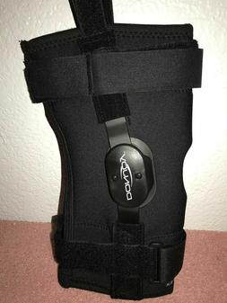 Donjoy Hinged Wraparound Knee Brace with Drytex - Small