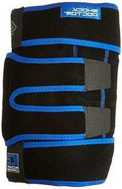 Shock Doctor Ice Recovery Compression Knee Wrap, Black, Larg