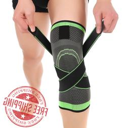 Knee 360° Compression 3D Brace Support Knee Protect,1Pcs  -