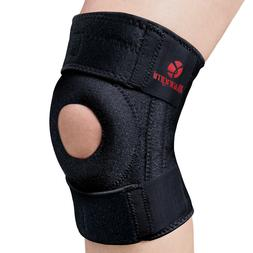 Kuangmi Knee Brace Adjustable Open Patella Strap Support Inj