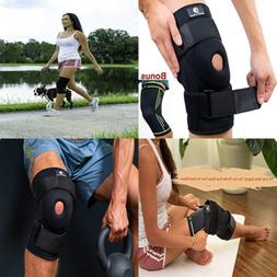 Knee Brace + Bonus Compression Sleeve By Support N Braces &