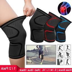 Knee Brace Compression Knee Sleeve Non-Slip For Running Hiki