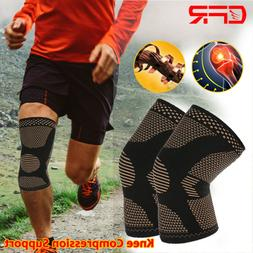 Copper Knee Compression Sleeve Patella Arthritis Joint Pain