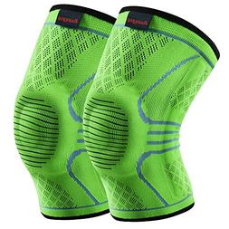 Kuangmi Knee Brace Compression Sleeve Support Running,Joggin