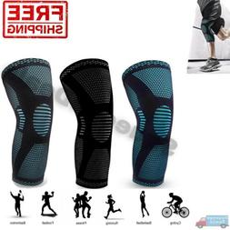 Knee Brace Compression Sleeve Support Sport Joint Injury Pai