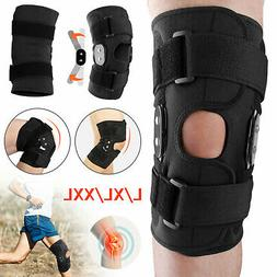 knee brace hinged compression sleeve joint support