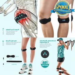 Knee Brace Patella Strap 2 Pack for Pain Relief, Running, Hi