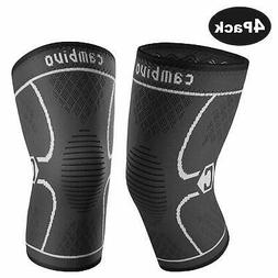 CAMBIVO Knee Brace Knee Compression Sleeve Support for Runni