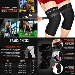 Mava Sports Knee Brace Pair W Adjustable Strap Does NOT ROLL