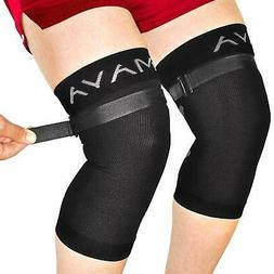 Mava Sports Knee Brace Pair with Adjustable Strap -Does NOT