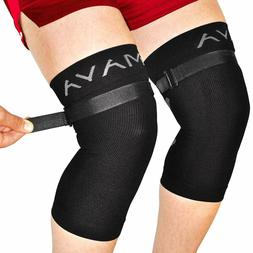 Mava Sports Knee Brace  with Adjustable Strap -Does NOT ROLL