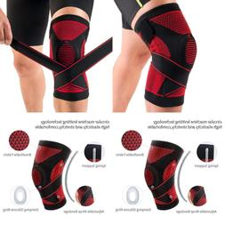 Kuangmi Knee Brace Spring Support W Side Stabilizers Silicon