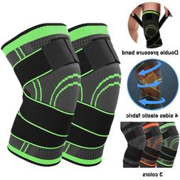 Knee Brace Support Compression Sleeve Hinged Sport Joint Art