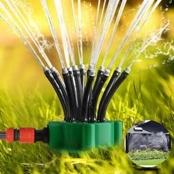 360° Auto Rotating Lawn Garden Sprinkler Watering System Wa