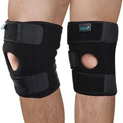 Knee Brace Support Sleeve 2 Pack, FDA Registered, for Arthri