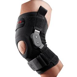 MCDAVID KNEE BRACE WITH POLYCENTRIC HINGES  - BLACK - LARGE