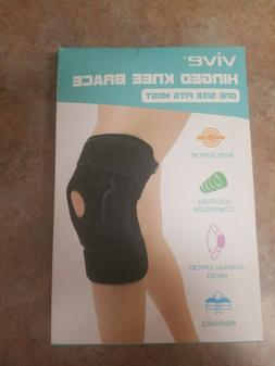 Knee Braces Vive Hinged - Adjustable Open Patella Support Fo