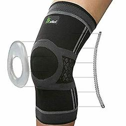 Knee Compression Sleeve - Knee Brace for Men & Women with Si
