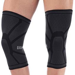 Mava Sports Knee Compression Sleeve Support Pair for Joint P