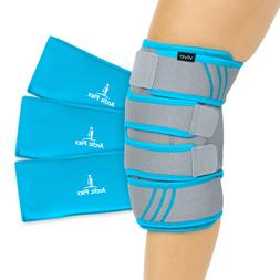 Vive Knee Ice Pack Wrap Cold/Hot Gel Compression Brace open