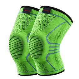 Kuangmi Knee Sleeve Compression Brace Breathable Sports Supp