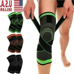 Knee Sleeve Compression Brace Patella Support Sports Gym Joi