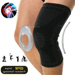 Knee Support Brace Compression Kneepad Silicon Pad Bracket/P
