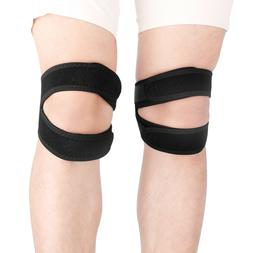 Knee Support Protection Patella Double Strap Stabilizer Tend