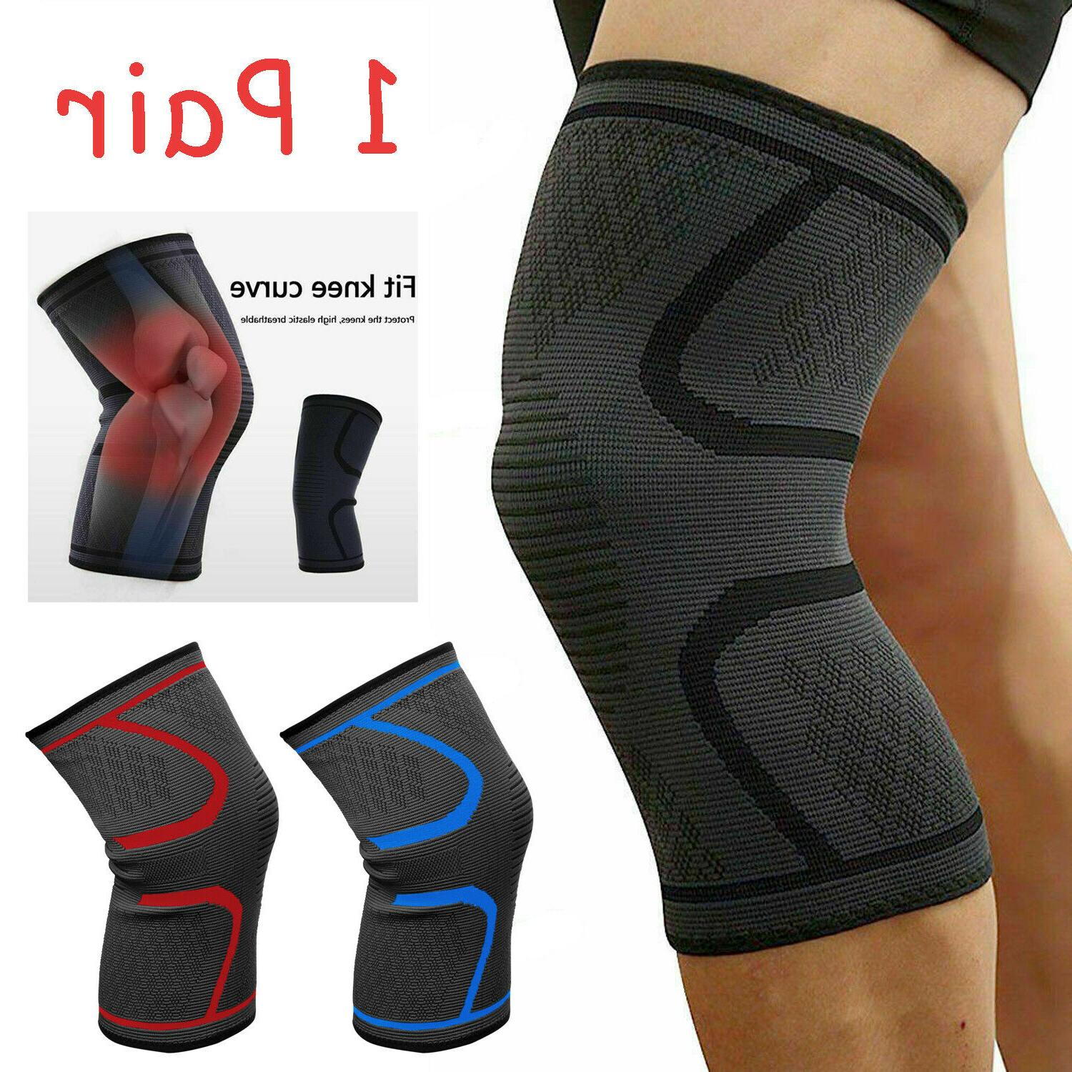 1 pair knee sleeves brace support