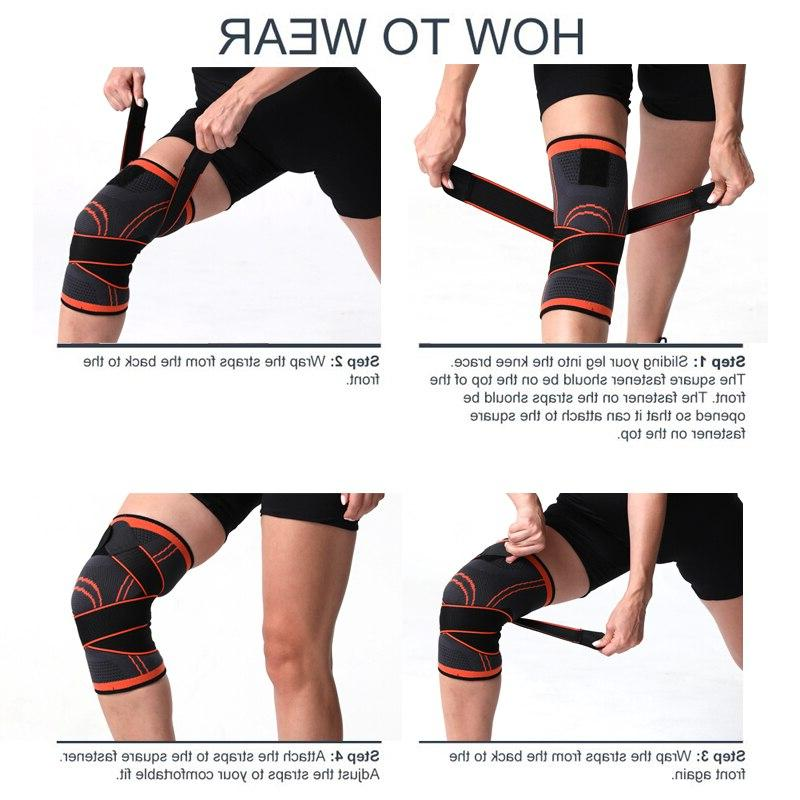 WorthWhile <font><b>Sports</b></font> Kneepad Men Pressurized Pads Support Basketball Volleyball <font><b>Brace</b></font> Protector