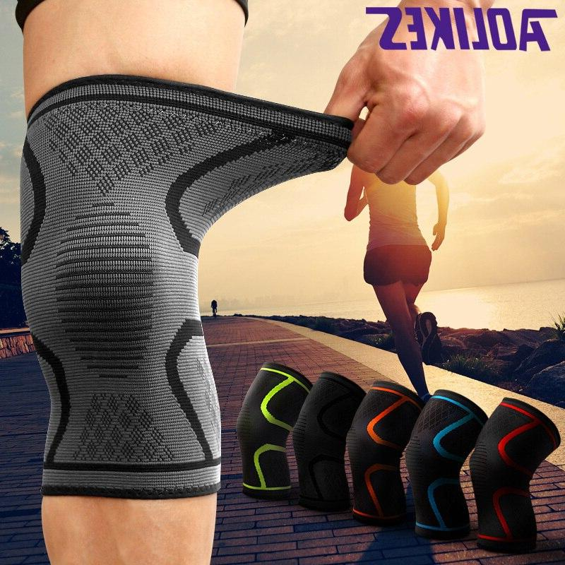 1Piece L-3XL Plus Nylon Running Cycling Pad <font><b>Sleeve</b></font> Elastic Fitness Support For <font><b>Knee</b></font>