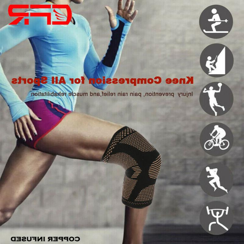 Knee Compression Support Sport Pain Copper
