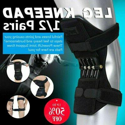 2x joint brace support knee pads booster