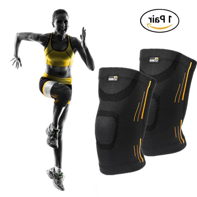 2 x knee sleeve compression brace support