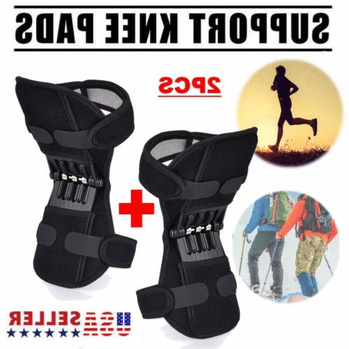 2Pcs Knee Joint Support Squat Sport Power Force