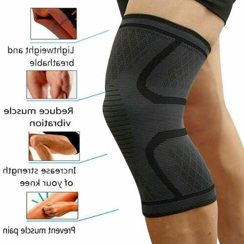 2pcs Knee Sleeve Compression Brace Support Joint Pain Arthritis